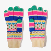 Colorful Fair Isle Gloves