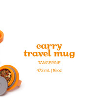 Tangerine Carry Travel Mug - Add A Pop Of Colour To Your On-The-Go Sipping With This Bright Orange Travel Mug | DAVIDsTEA