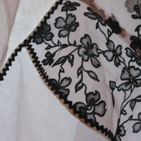 SOLD! Black & White Sheer Hostess Apron