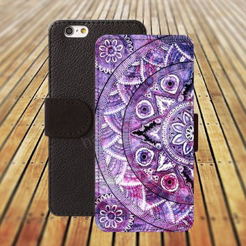 mandala colorful iphone 5/ 5s iphone 4/ 4s iPhone 6 6 Plus iphone 5C Wallet Case , iPhone 5 Case, Cover, Cases colorful pattern L028