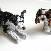 Custom Canine - Animated/Unique Coat Beaded Dog Sculpture