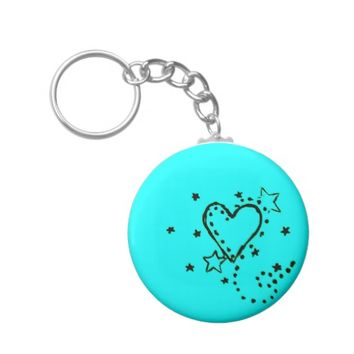 Heart Doodle Keychain
