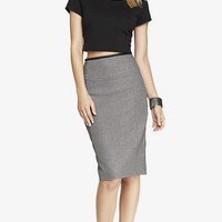 HIGH YOKE WAIST HONEYCOMB PENCIL SKIRT from EXPRESS