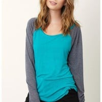 Blue Life - Riches To Raglan Top