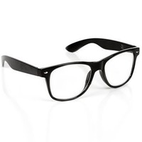 Classic Black Clear Vision Glasses