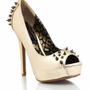 spiked-peep-toe-heels GOLD - GoJane.com
