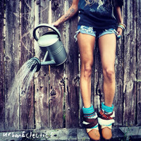 Urban Eclectics  Feathered Aztec Tribal Boots