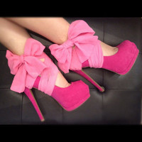 Pink Chiffon Heel Condom by Glamfoxx