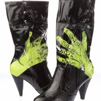 Iron Fist One Hand In Grave Boots - Black (Vegan) - Punk.com