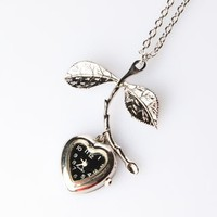 Zad Heart Watch Necklace - Silver - Punk.com