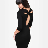 Cute Black Dress - Cutout Dress - LBD - $35.50