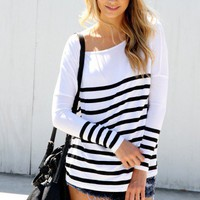 SABO SKIRT  White Stripe Tunic - $28.00