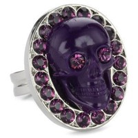 "Amazon.com: TARINA TARANTINO ""Classic"" Deep Purple Skull Ring, Size 6.5: Jewelry"