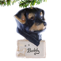 Rottweiler Christmas Ornament - personalized ornament - dog Christmas ornament - pet memorial ornament