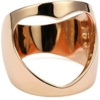 "HAN CHOLO ""Shadow Series"" Open Heart Ring Rose sz.7, Size 7 - designer shoes, handbags, jewelry, watches, and fashion accessories 