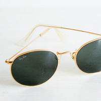 Original Ray-Ban round sunglasses in original case for him (1986)