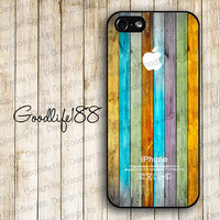 Custom iphone 5 case iphone 5 cover iphone 5 cases Hard case--Multicolour wood design Image Printing