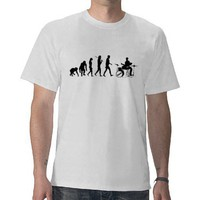 Drum Set Drummers Retro Drumming Music Evolution Tshirts from Zazzle.com