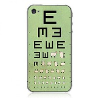 Visual Acuity Chart iPhone Cases by Hallomall