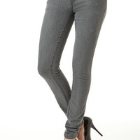 Piper Double-Button Gray Skinny Jean