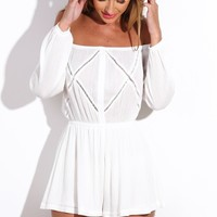 HelloMolly | Win The Fight Playsuit White