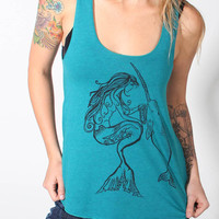 Mermaid & the Narwhal Racerback Tank by NeonNative on Etsy