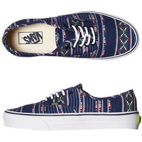 VANS WOMENS AUTHENTIC SHOE - GUATE STRIPE BLUE