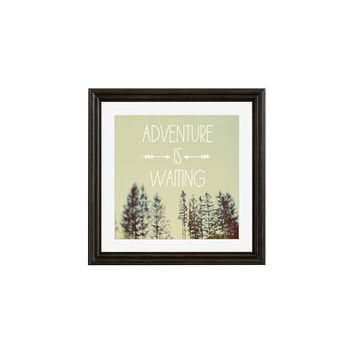 ADVENTURE IS WAITING FRAMED PRINT BY ALICIA BOCK