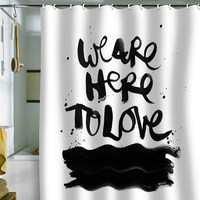 DENY Designs Home Accessories | Kal Barteski We Are Here Shower Curtain