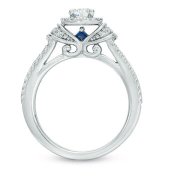 Vera Wang LOVE Collection 3/4 CT. T.W. Diamond Collar Engagement Ring in 14K White Gold