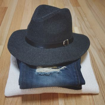 Buckle Fedora Hat from www.shopchapter24.com