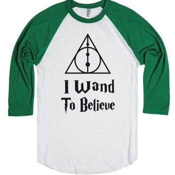 I Wand To Believe-Unisex Athletic Grey T-Shirt
