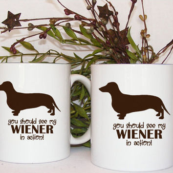 Dachshund Dog coffee mug set Funny Coffee Mugs You by Mugsleys