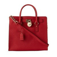 MICHAEL Michael Kors Hamilton Large Saffiano Leather Tote | Overstock.com Shopping - The Best Deals on Tote Bags