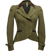 Plaid Riding Jacket - WILLOW & CLAY - Polyvore