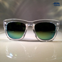 Clear Mirrored Wayfarer Sunglasses