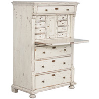 Swedish Pine Secretary With Distressed White Paint, Circa 1850 at 1stdibs