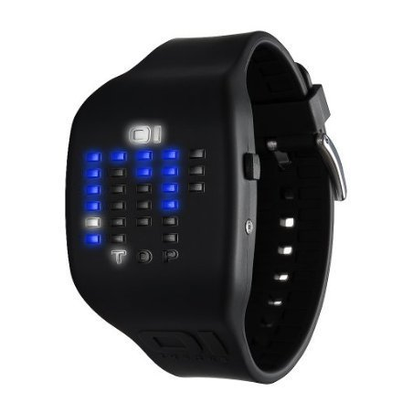 01TheOne Unisex IC900M3BK Ibiza Ride Digital Color Black Rubber Watch - designer shoes, handbags, jewelry, watches, and fashion accessories | endless.com