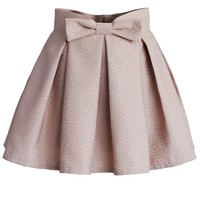 Sweet Your Heart Bowknot Pleated Mini Skirt in Pink