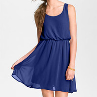 Lush 'Drew' Blouson Tank Dress (Juniors) | Nordstrom