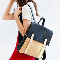 Cooperative Double Buckle Flap Backpack- Black One