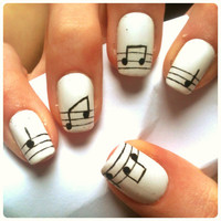 SALE-music note nail set