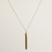 Women's jewelry - necklaces - Crystal tassel necklace - J.Crew