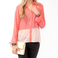 Colorblocked Tulip Back Shirt