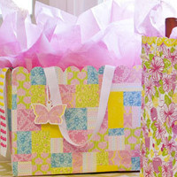 Lilly Pulitzer Large Gift Bag - Bees Knees Patch