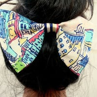 Accessories Oversize Hair Bow Jumbo Hair Bow Under Bun Bow Fabric Bow Statement Accessory- By PiYOYO
