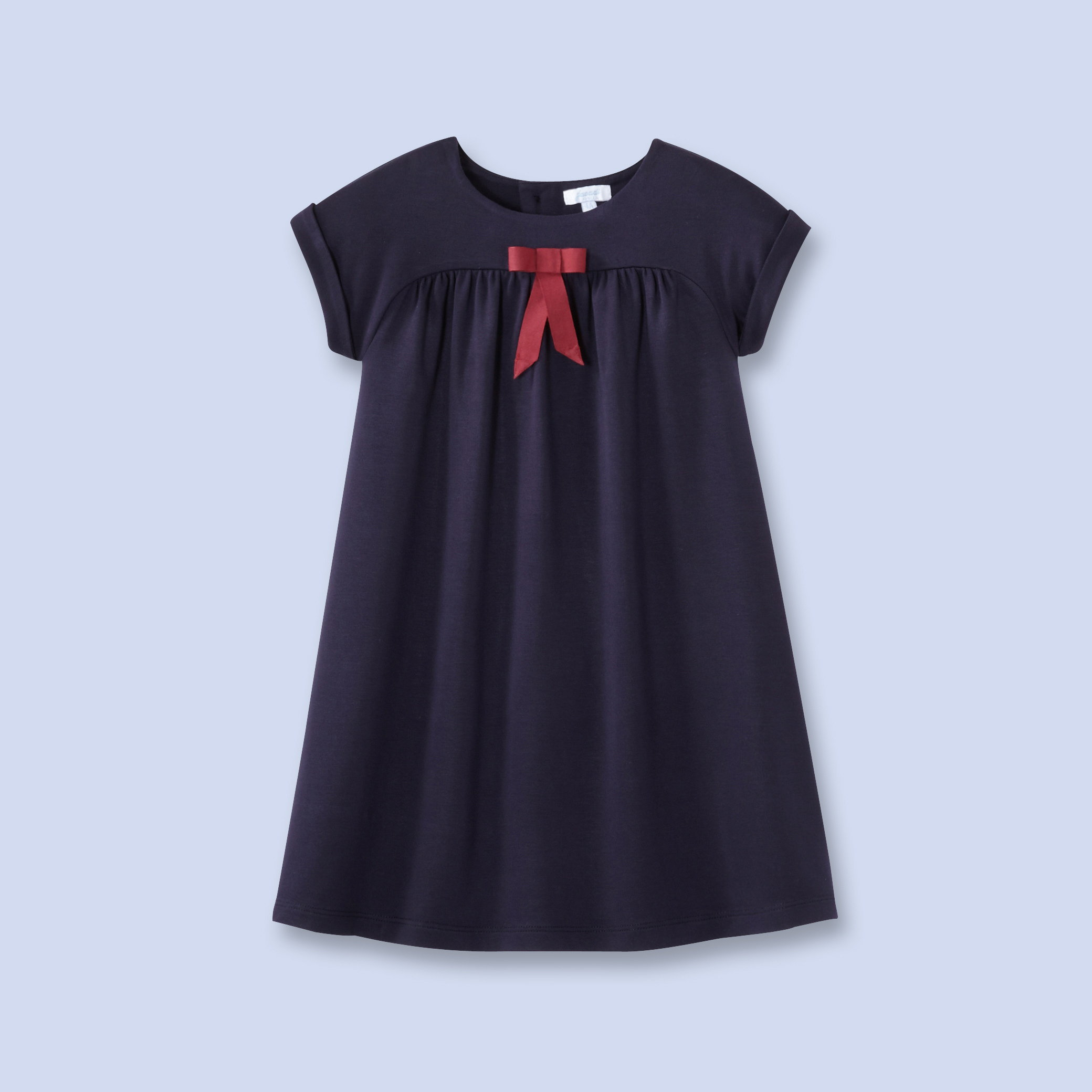 line jersey dress - Girl - NAVY BLUE - from jacadi.us   The