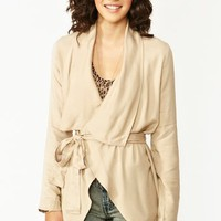 Draped Trench Jacket