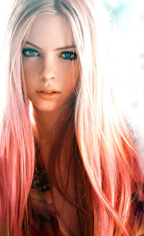 Peachy Pink Dip Dyed Hair Extensions For From Cloud9Jewels On
