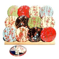 Pocket Mirrors Cherry Blossoms Collection Set of 5 by gamiworks